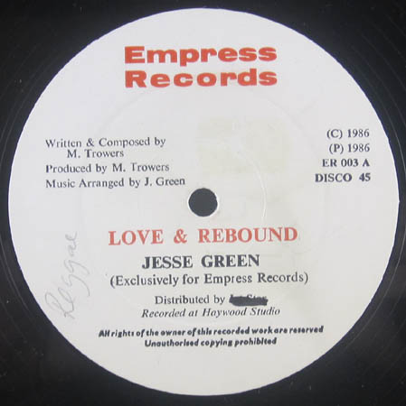 12inch - Green, Jesse Love & Rebound / Dubbing With Marge