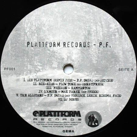 LP - Various Artists Plattform Records - P.F.