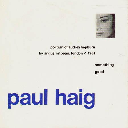 CD:Single - Haig, Paul Something Good