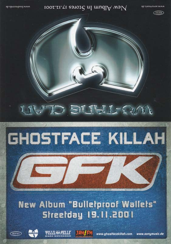Memorabilia - Wu-Tang Clan / Ghostface Killah Postcard Set