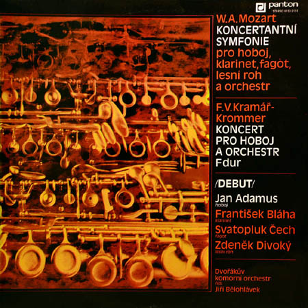 LP - Mozart, Wolfgang Amadeus / Frantisek Vincenc Kramar - Kromm Sinfonia Concertante For Oboe, Clarinet, Bassoon, Horn, And Orchestra / Concerto For Oboe And Orchester In F Major