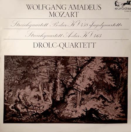 """LP - Mozart, Wolfgang Amadeus Streichquartett B-dur Kv458 """"Jagdquartett"""" / Streichquartett A-dur Kv464"""