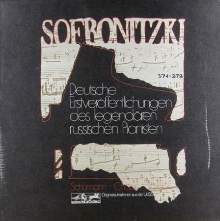 3LP - Sofronitzki, Wladimir Schumann - Chopin - Scriabin