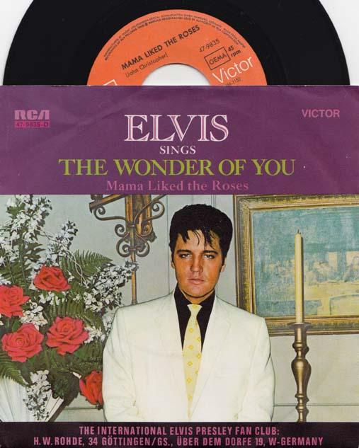 7inch - Presley, Elvis The Wonder Of You