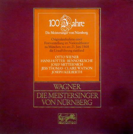 5LP - Wagner, Richard 100 Jahre Die Meistersinger Von N