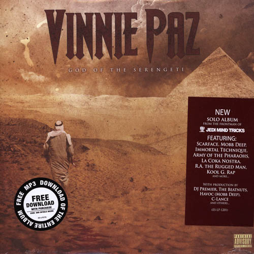 2LP - Vinnie Paz of Jedi Mind Tricks God Of The Serengeti