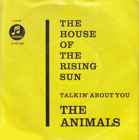 7inch - Animals, The The House Of The Rising Sun