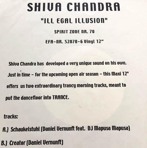 12inch - Shiva Chandra Illegal Illusion