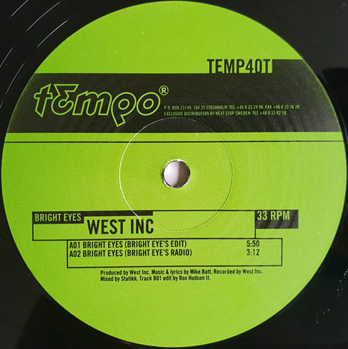 12inch - West Inc. Bright Eyes