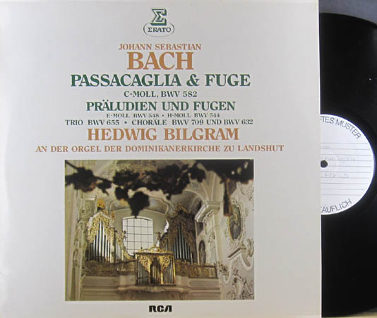 LP - Bach, Johann Sebastian Passacaglia & Fuge