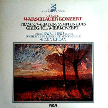 2LP - Addinsell / Franck / Grieg Warschauer Konzert / Variations Symphoniques / Klavierkonzert
