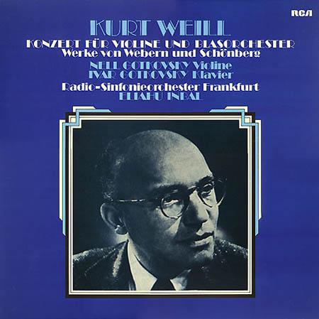 LP - Weill, Kurt / Anton Webern / Arnold Schoenberg Konzert F