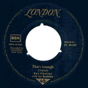 7inch - Charles, Ray That's Enough