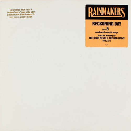LP - Rainmakers, The Reckoning Day - Promo only 0