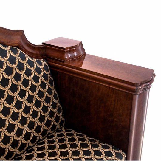 Dieses Produkt ist nur einmal verfügbar. Versand ist kostenlos.  Antikes Sofa - Chaiselongue vom Anfang des 20. Jahrhunderts. Die Möbel sind in sehr gutem Zustand, nach professioneller Renovierung wurde die Chaiselongue mit einem neuen Stoff bezogen... 5
