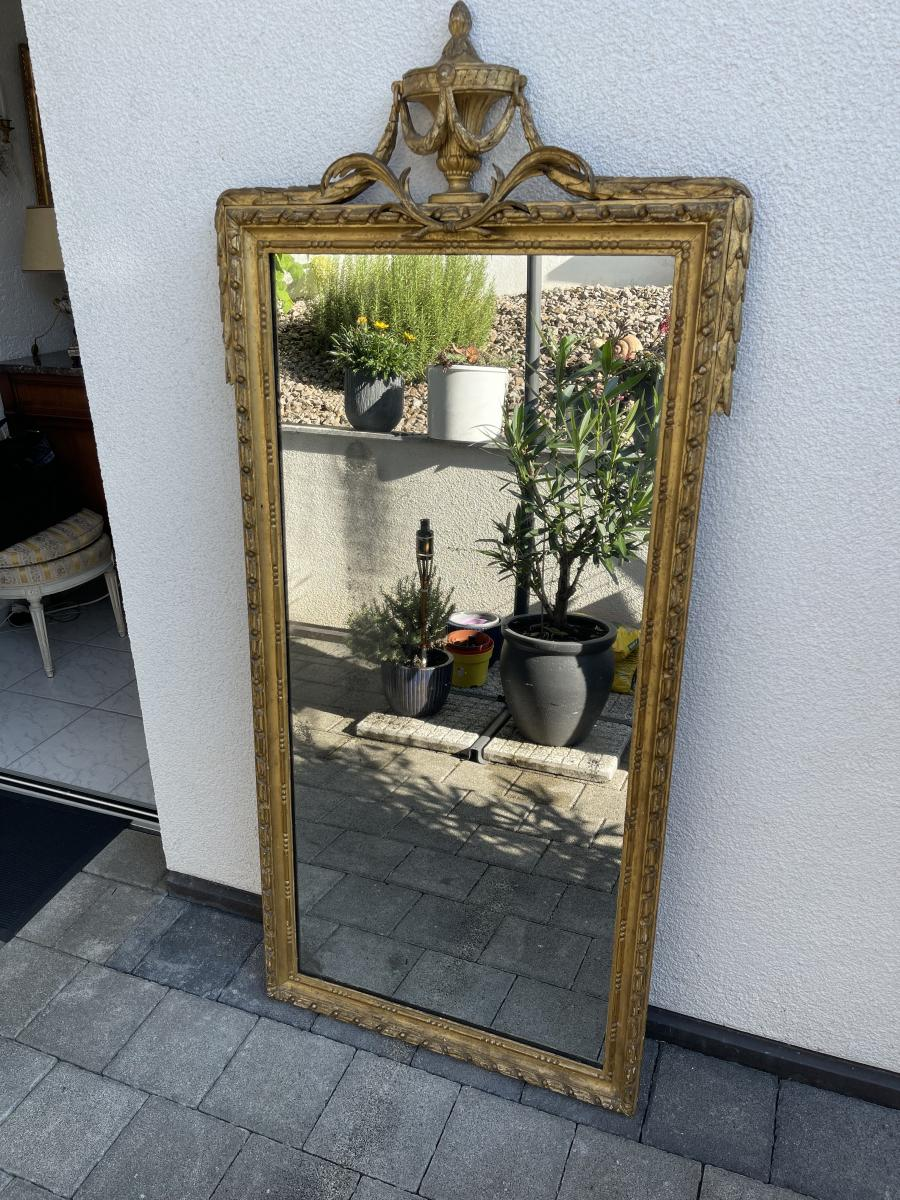 Antiker Wand-Spiegel, Frankreich, Original aus der Zeit Louis XVI 0