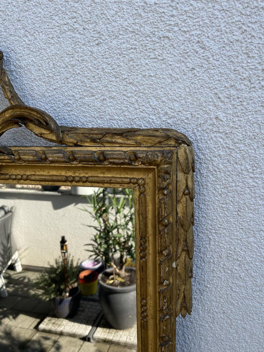 Antiker Wand-Spiegel, Frankreich, Original aus der Zeit Louis XVI 2