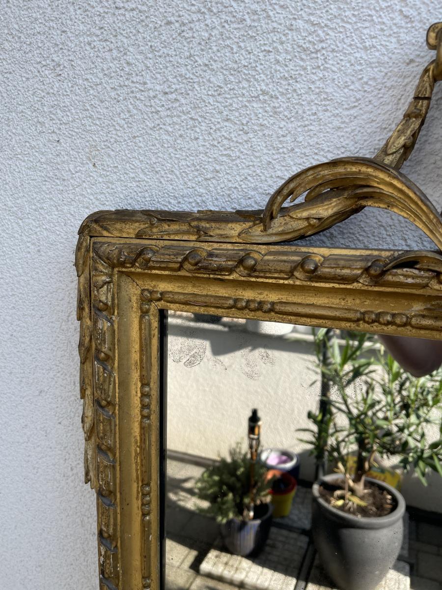 Antiker Wand-Spiegel, Frankreich, Original aus der Zeit Louis XVI 3