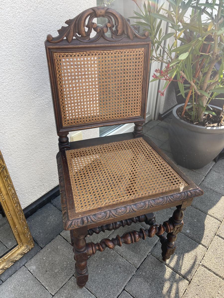 Hübscher antiker Stuhl mit Wiener Geflecht, Frankreich, 19. Jahrhundert  0