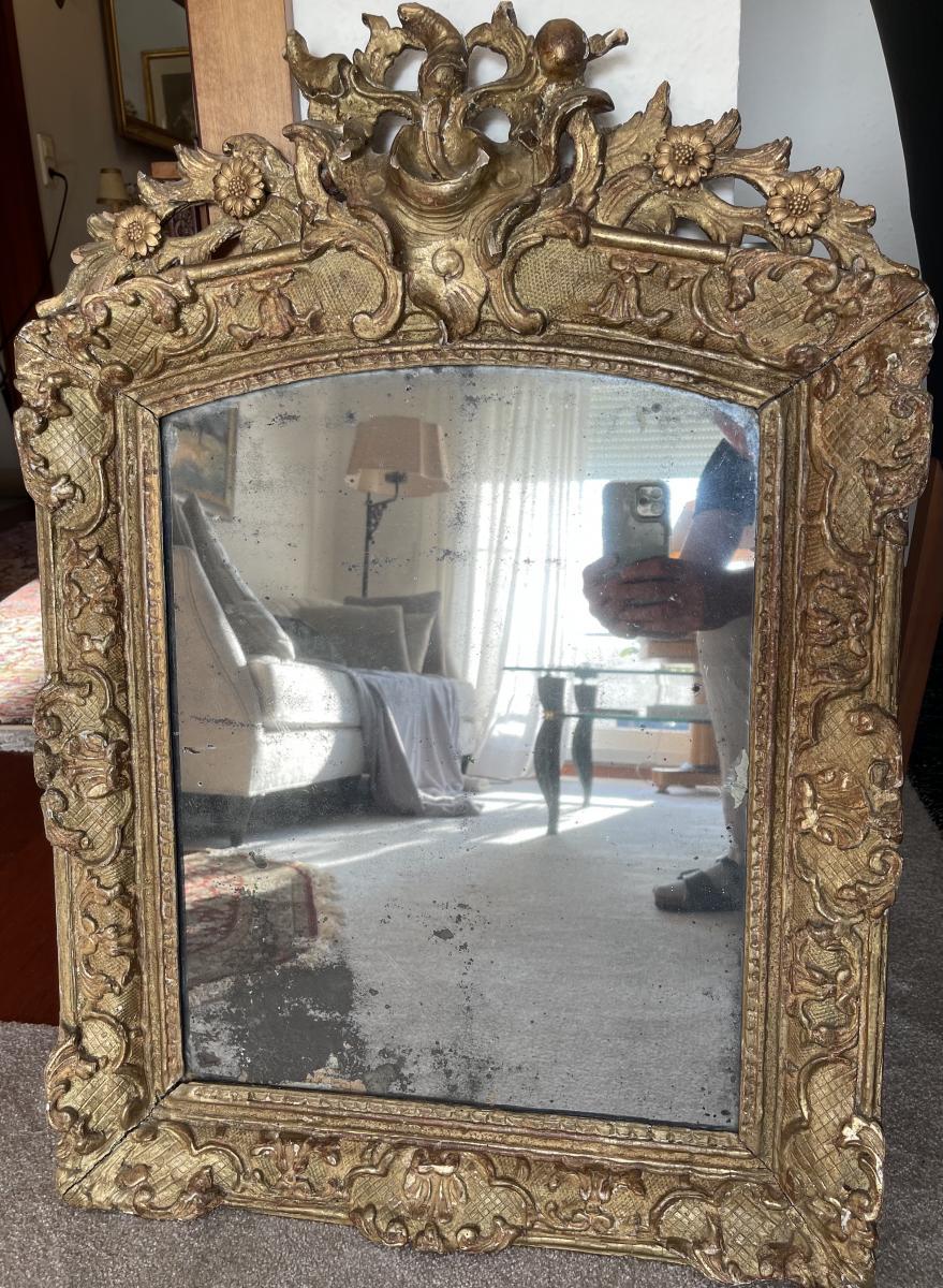 Wunderschöner Antiker Barock Spiegel, Frankreich, Ende 18. Jahrhundert