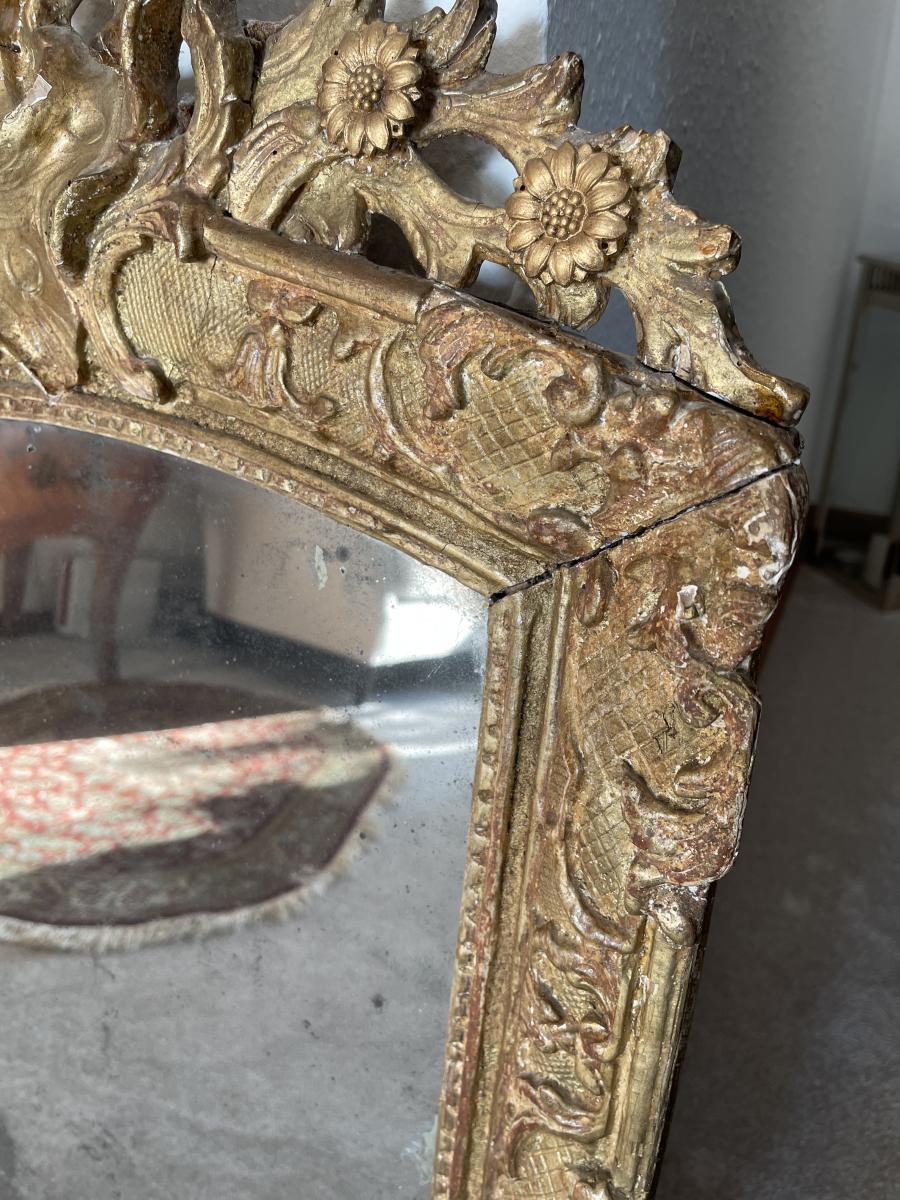 Wunderschöner Antiker Barock Spiegel, Frankreich, Ende 18. Jahrhundert 2