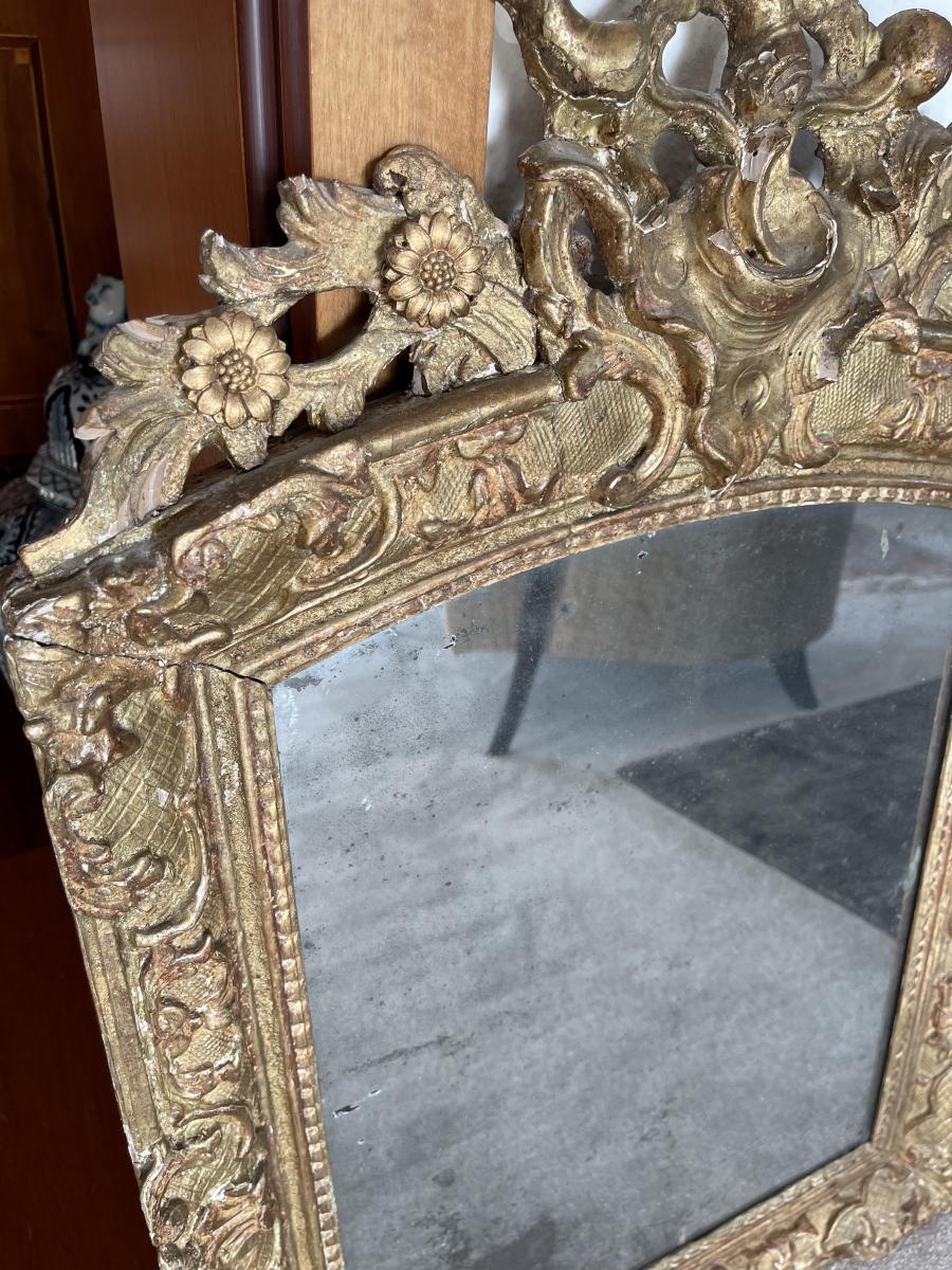Wunderschöner Antiker Barock Spiegel, Frankreich, Ende 18. Jahrhundert 4