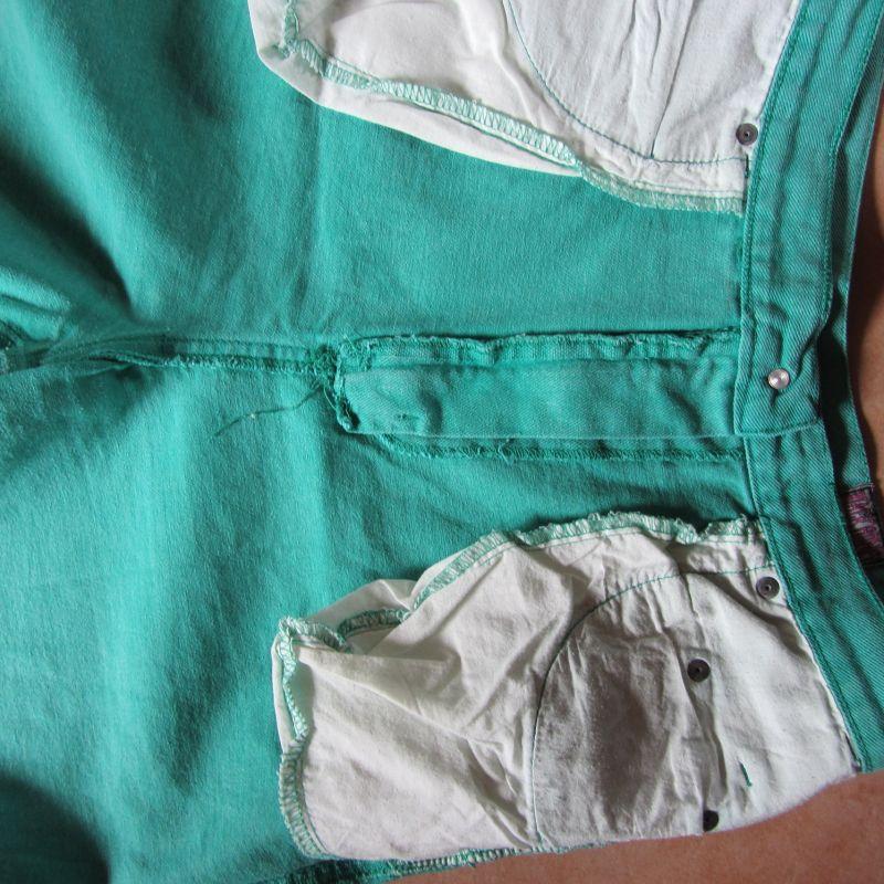 kurze Damenhose, Sommerhose,  grün, Größe zirka 44  3