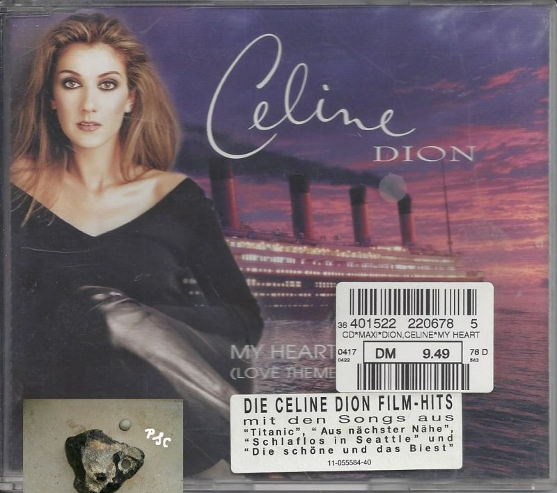 Celine Dion, My Heart will go on, CD Single