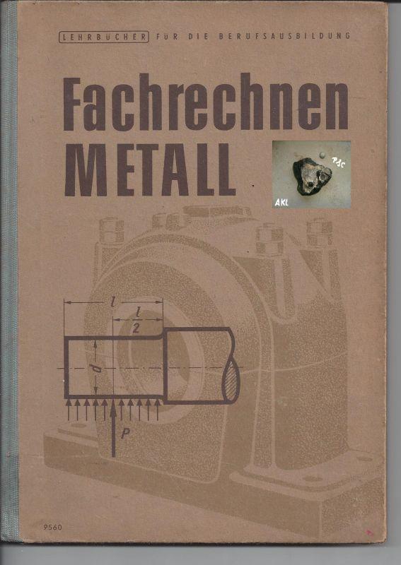 Fachrechnen Metall, Berufsausbildung