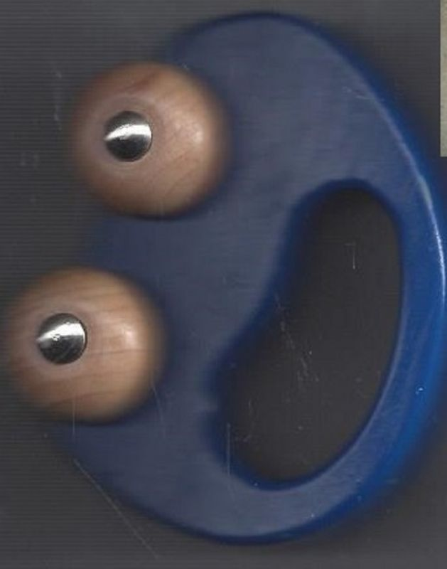 Greifspielzeug, blaues Holzauto für Kleinkinder