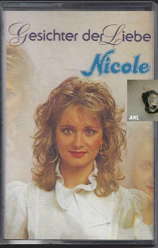 Nicole, Gesichter der Liebe, Kassette, MC
