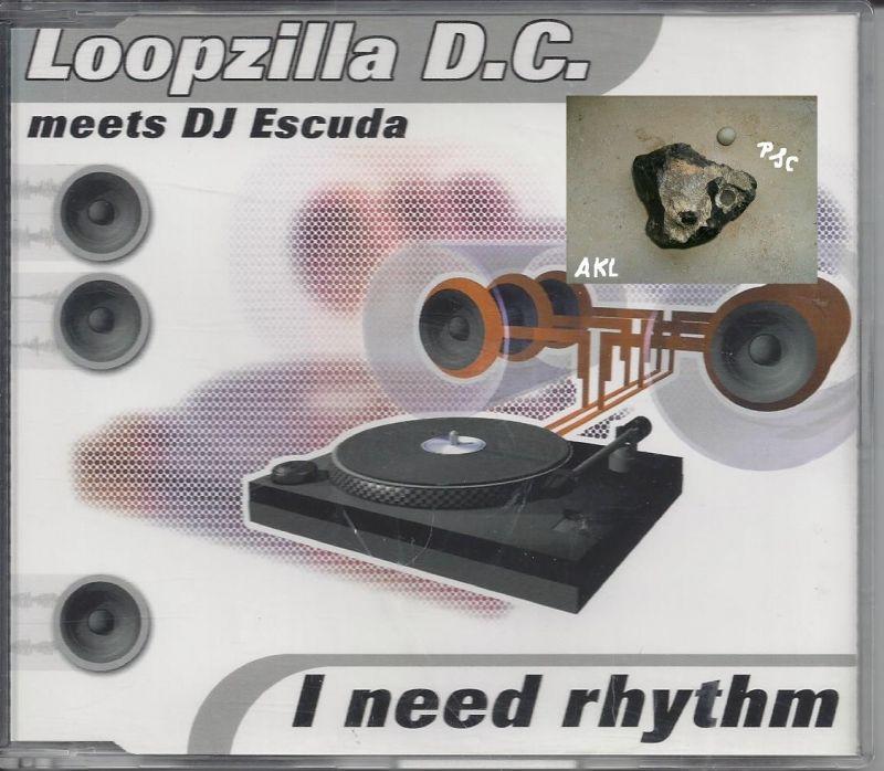 Loopzilla D. C., I need rhythm, Single CD