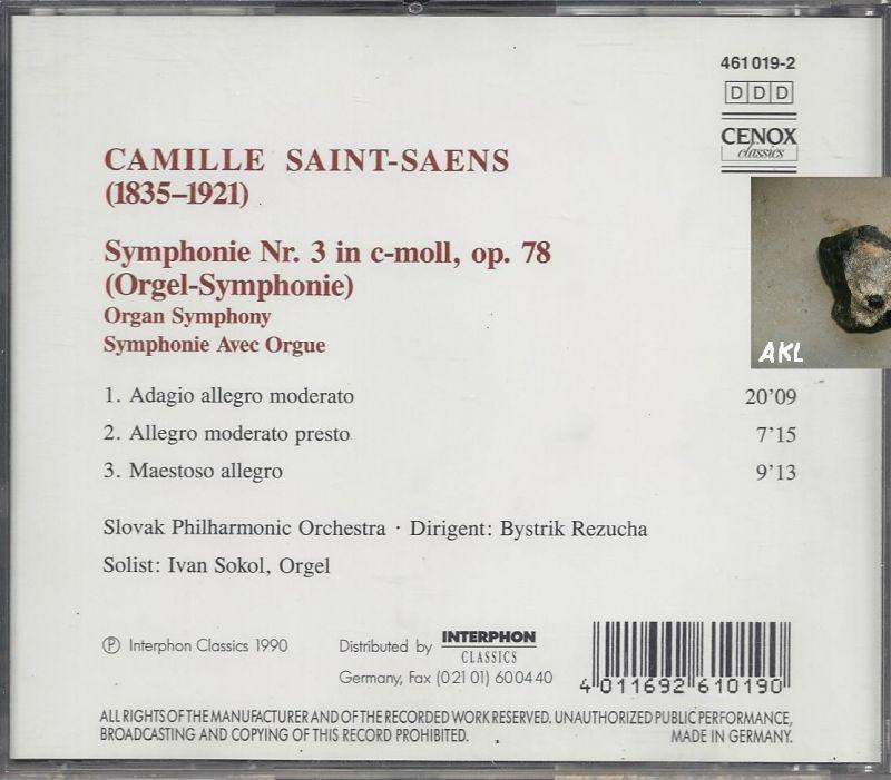 Camille Saint Saens, Symphonie No 3, Orgelsinfonie, CD 1