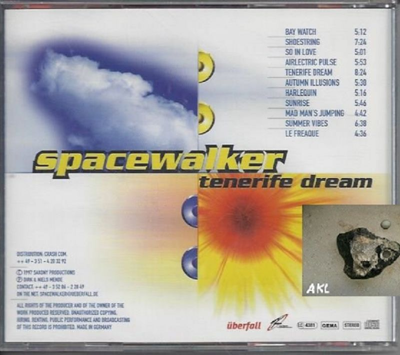 spacewalker, tenerife dreams, CD 1