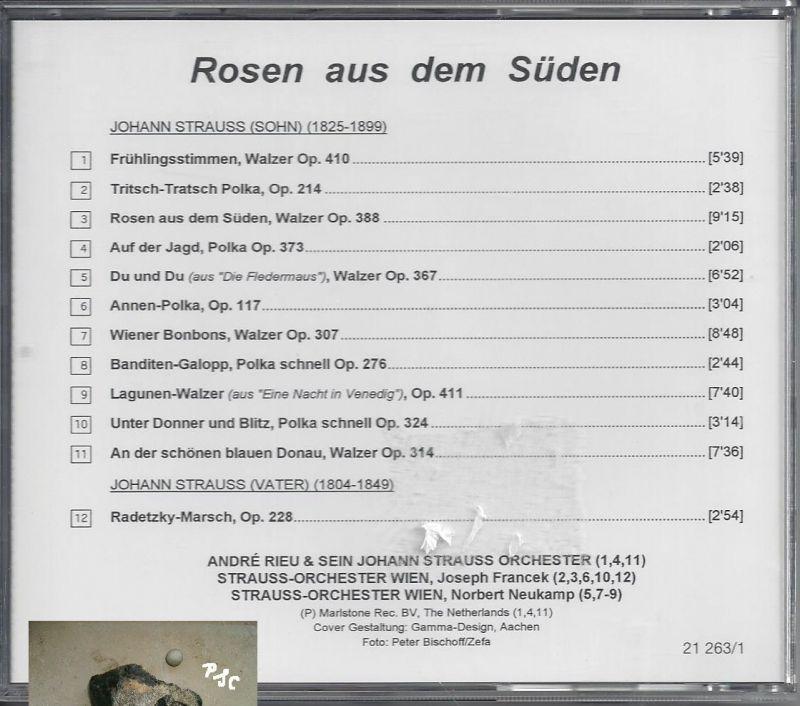 Rosen aus dem Süden, CD 1