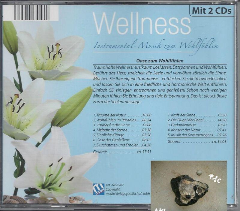 Wellness, Instrumental Musik zum Wohlfühlen, blau, CD 1