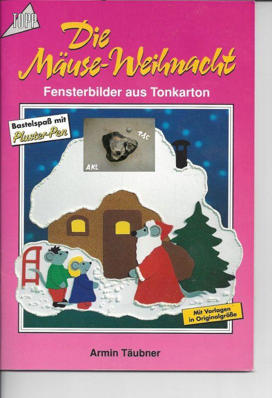 Die Mäuse Weihnacht, Fensterbilder aus Tonkarton, basteln