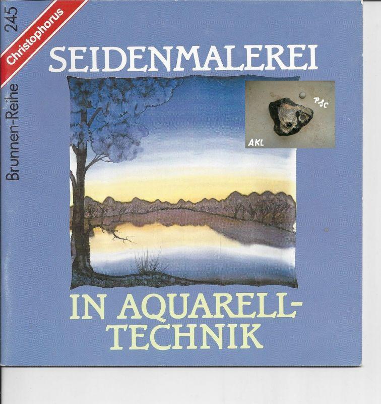 Seidenmalerei in Aquarelltechnik, Brunnen-Reihe, basteln