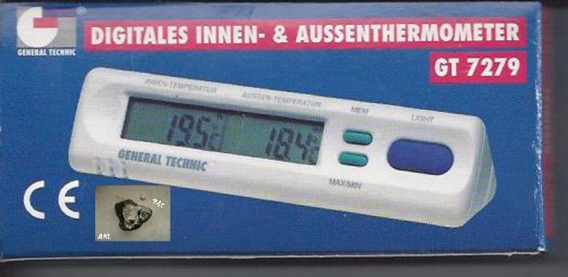 Digitales Innen und Außenthermometer, GT 7279