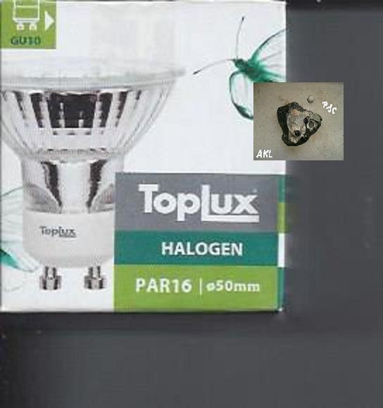 Toplux Halogen, MR16, Durchmesser 50 mm, GU 10