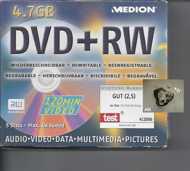 DVD und RW, 5 stück, leer