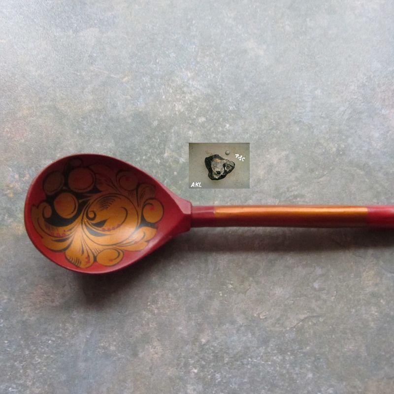 Holzlöffel bronze kurz
