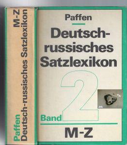 Deutsch-russisches Satzlexikon, Band 2, M-Z