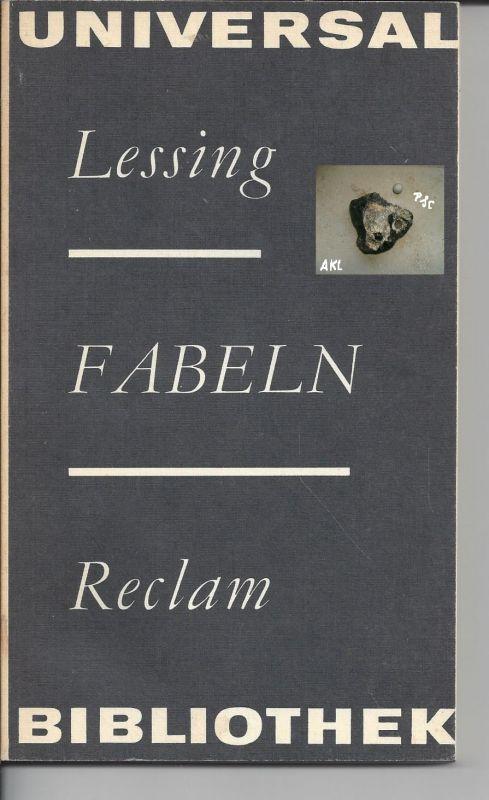 Fabeln, Lessing, Reclam