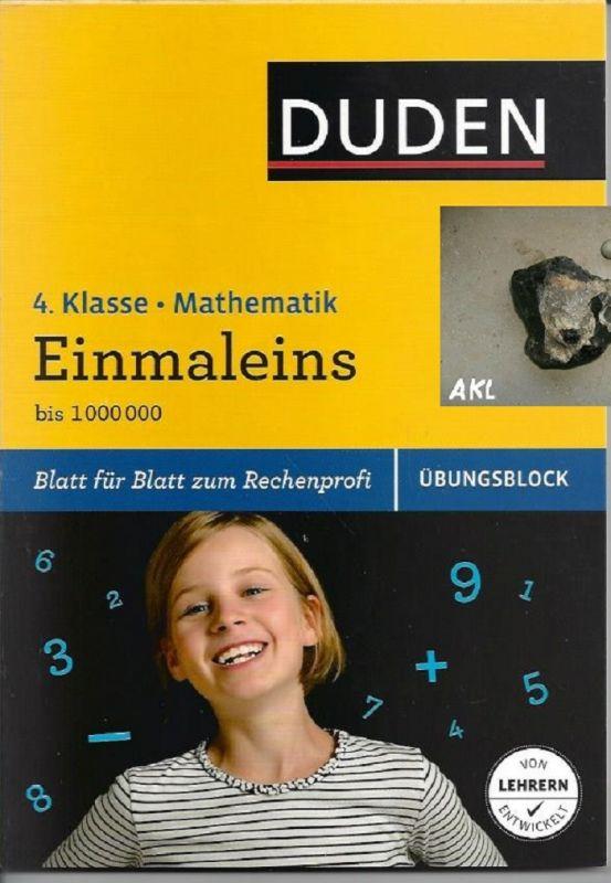 Einmaleins bis 1000000, 4. Klasse, Mathematik, Übungsblock