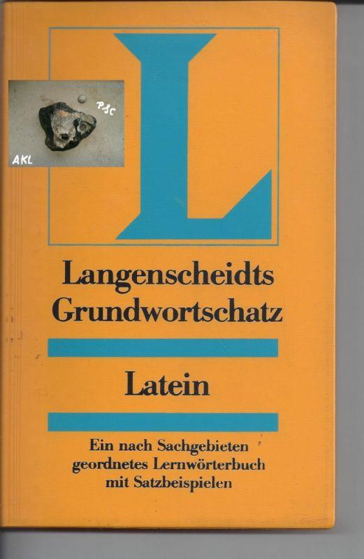 Langenscheidts Grundwortschatz Latein
