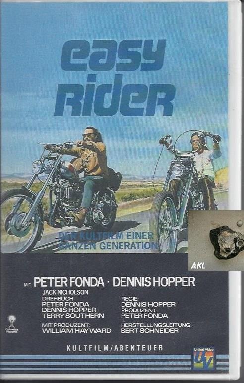 easy rider, Peter Fonda, Dennis Hopper, VHS