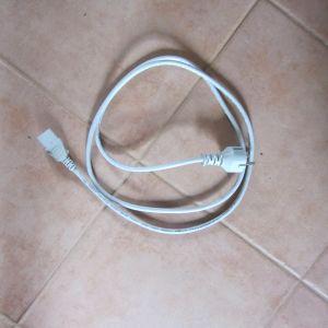 Kaltgerätestecker für PC, zirka 156 cm lang, Farbe grau