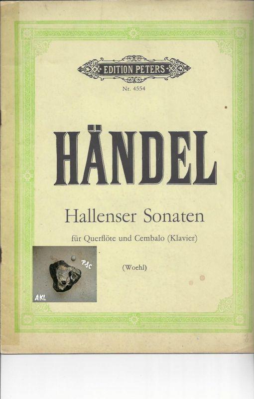 Händel, Hallenser Sonaten für Querflöte, Cembalo, Klavier, Nr. 4554