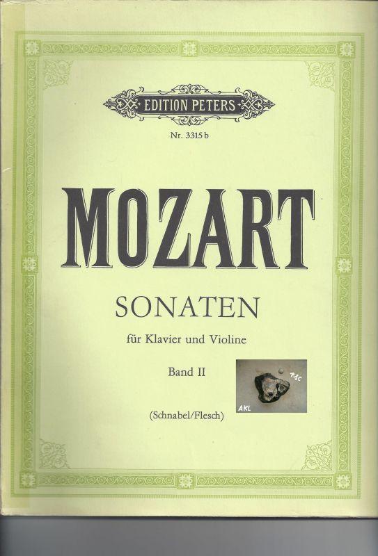 Mozart, Sonaten für Klavier und Violine, Band II, Edition Nr. 3315b